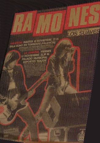Cartel concierto Ramones + Los Suaves