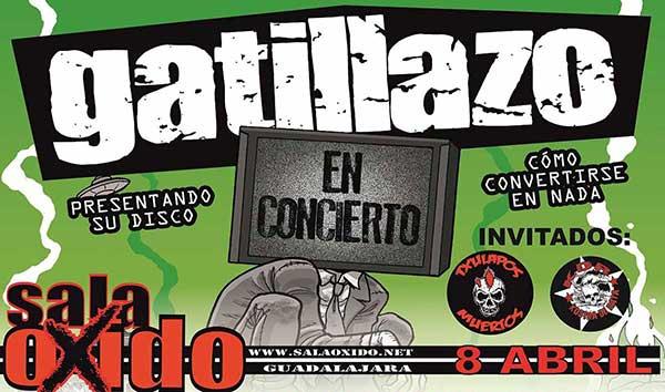 Cartel de Gatillazo en el 12 Aniversario de la Sala Óxido