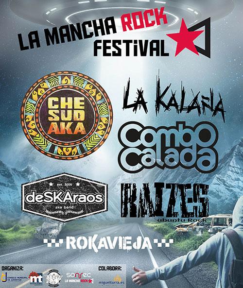 Cartel del Festival La Mancha Rock 2018