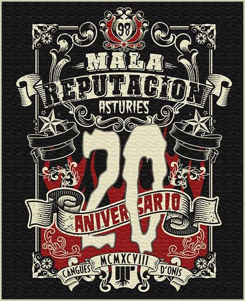Cartel XX Aniversario Mala Reputación