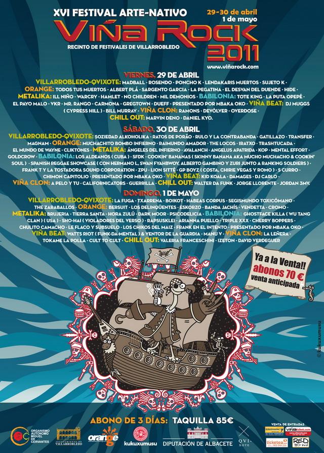 Cartel Viña Rock 2011