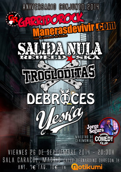 Cartel de la fiesta Manerasdevivir.com / GarridoRock
