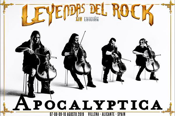 Apocalyptica al cartel del festival Leyendas del Rock 2019