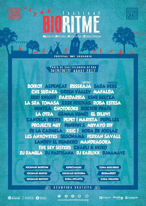 Cartel del BioRitme Festival 2017