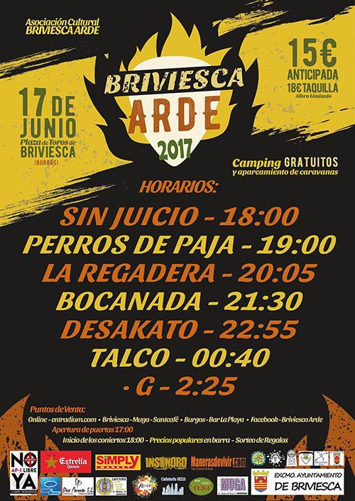 Horarios Festival Briveisca Arde 2017