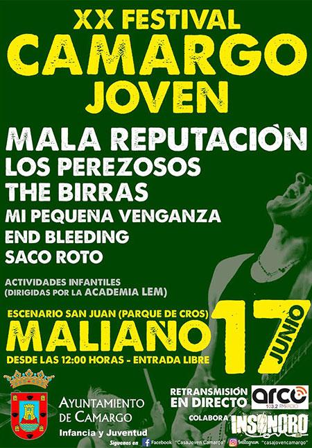 Cartel festival Camargo Joven 2017