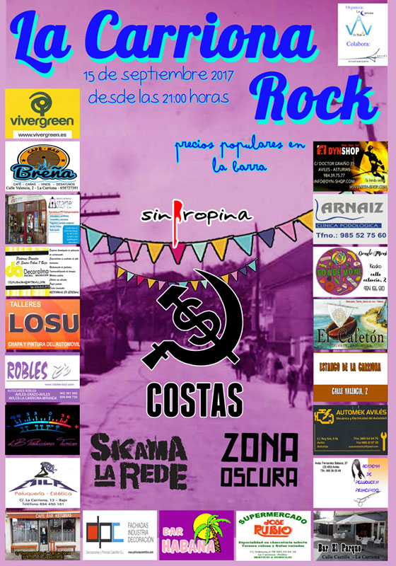 Cartel Carriona Rock 2017
