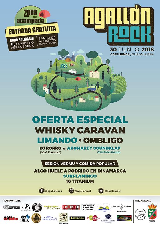 Cartel del Festival Agallón Rock 2018