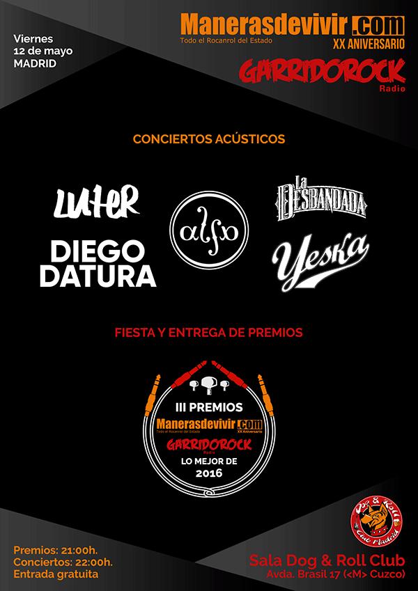 Cartel Entrega Premios a Lo Mejor de 2016