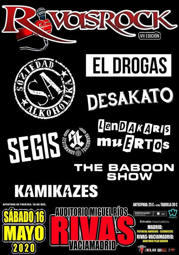 Cartel del festival Rivas Rock 2020