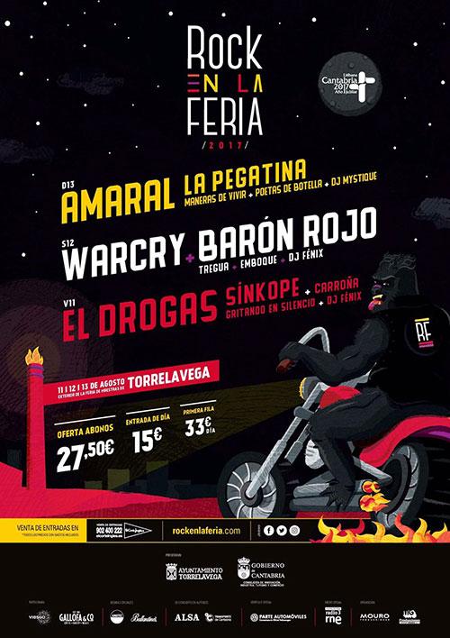 Cartel Festival Rock en la Feria 2017