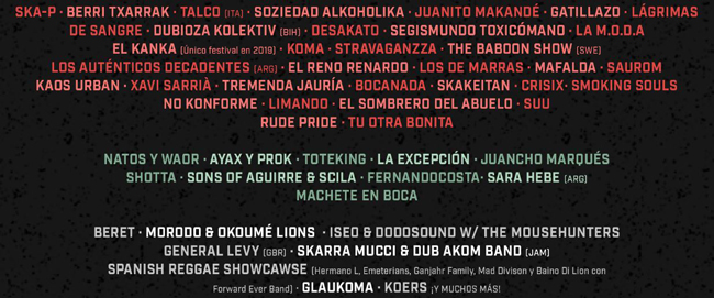 Cartel Viña Rock 2019