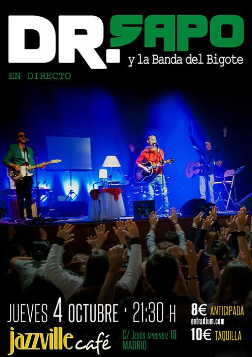 Concierto de Dr.Sapo y La Banda del Bigote en Madrid