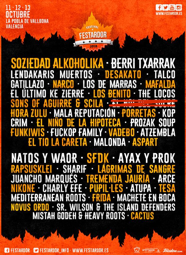El Noi del Sucre no estará en el Festival Festardor