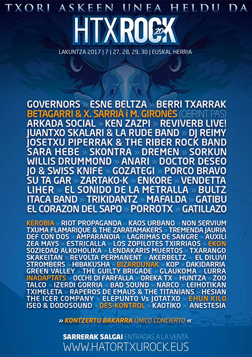 Cartel Hatortxu Rock 2017