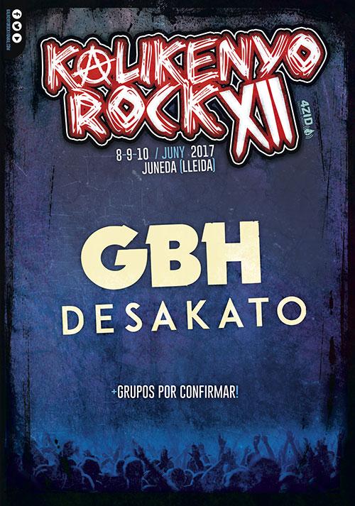Desakato + GBH al Kalikenyo Rock