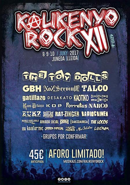 Cartel del Kalikenyo Rock en enero 2017