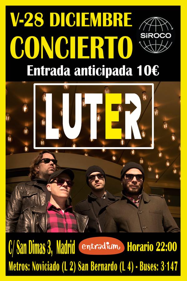 Cartel concierto Luter en Madrid