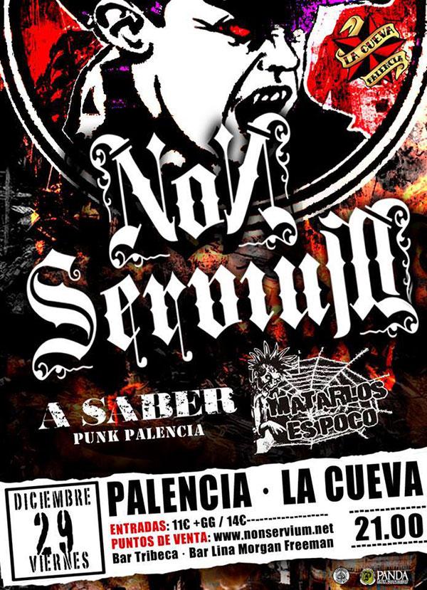 Conciertos de Non Servium en Palencia