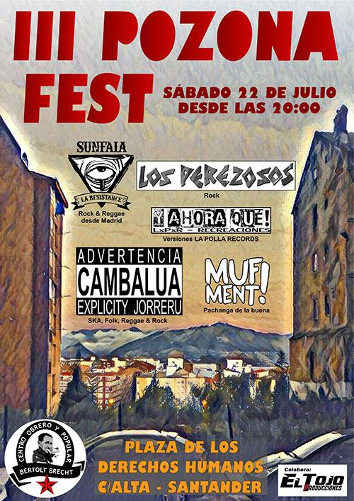 Cartel Pozona Fest 2017