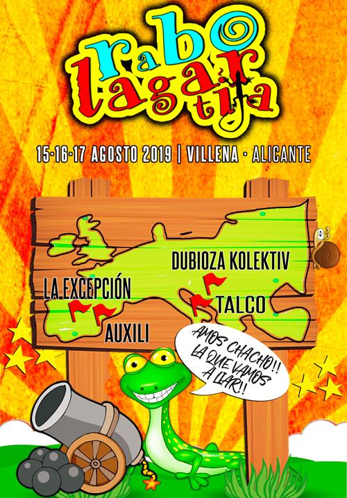 Cartel del festival Rabolagartija