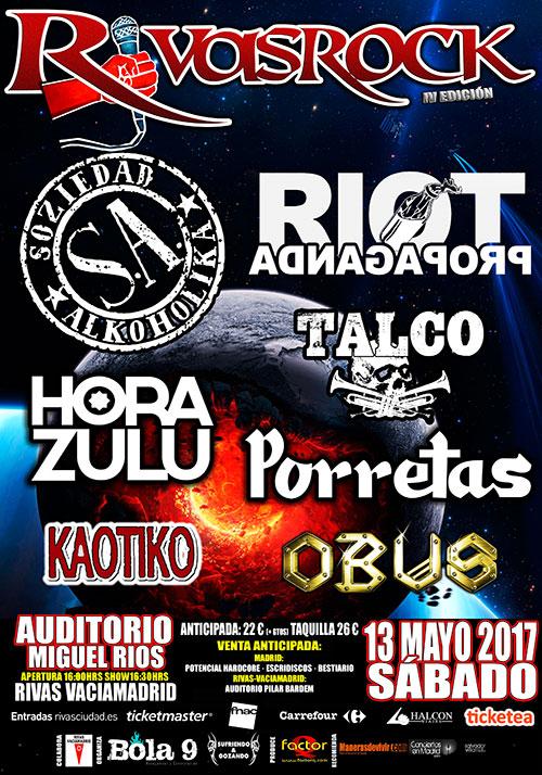 Cartel del festival Rivas Rock 2017