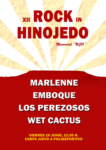 Cartel Rock in Hinojedo 2017