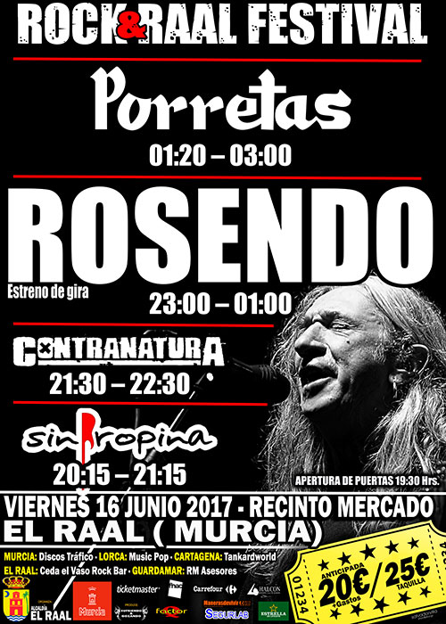 Horarios Rock&Raal - Rosendo