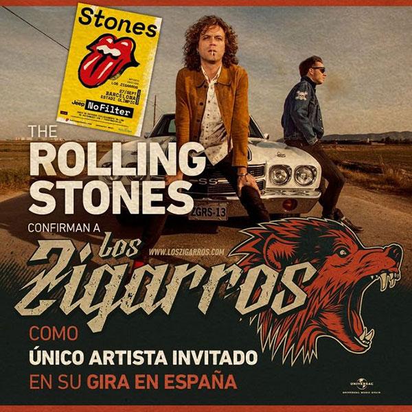 Los Zigarros teloneros de los Rolling Stones en Barcelona