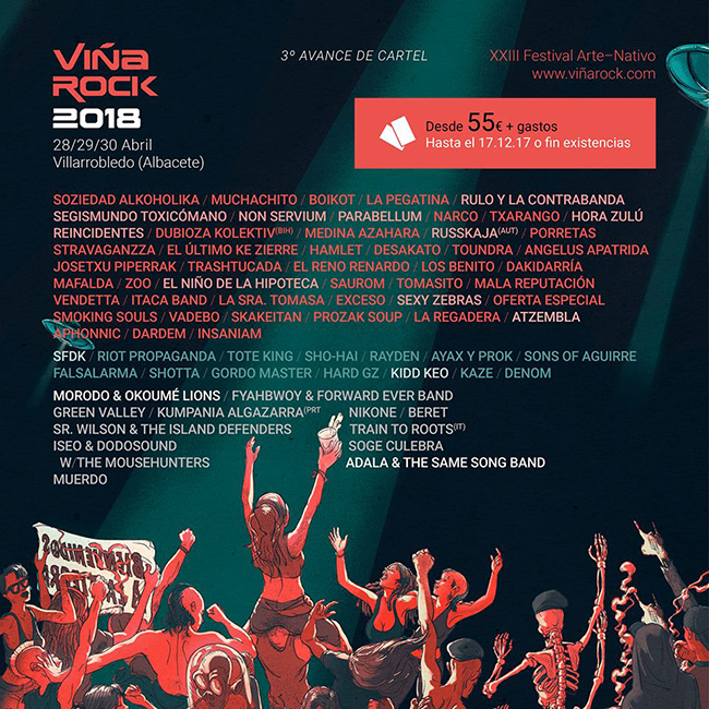 Cartel Viña Rock 2018