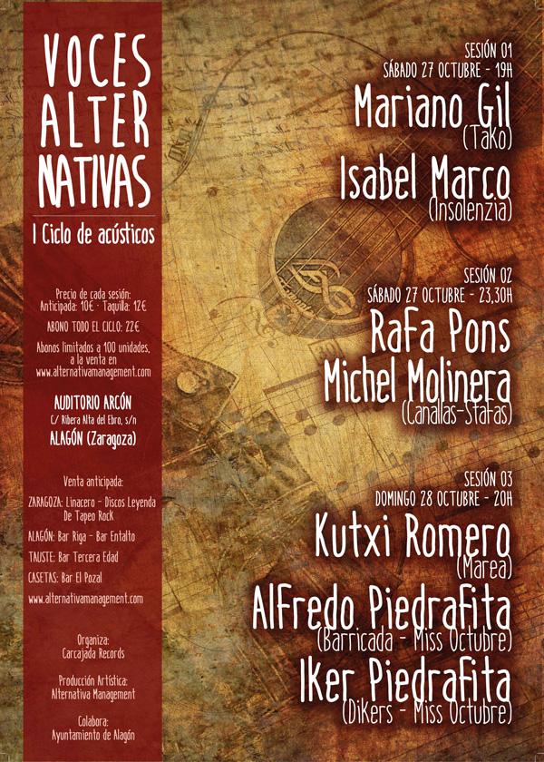Ciclo conciertos acústicos Voces Alternativas (Alagón)